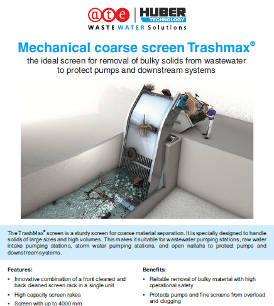 Mechanical coarse screen Trashmax®