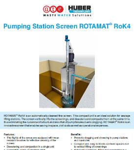 Pumping Station Screen ROTAMAT® RoK4